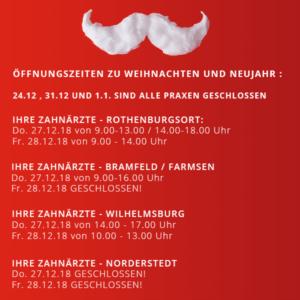 öffnungszeiten weihnachten